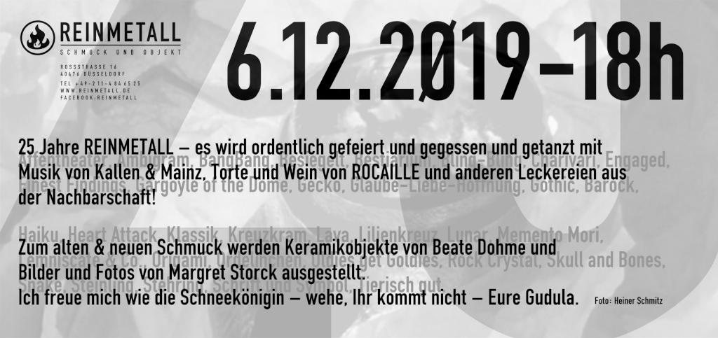 25 Jahre REINMETALL – die Einladung zum Jubiläum am 6.12.2019