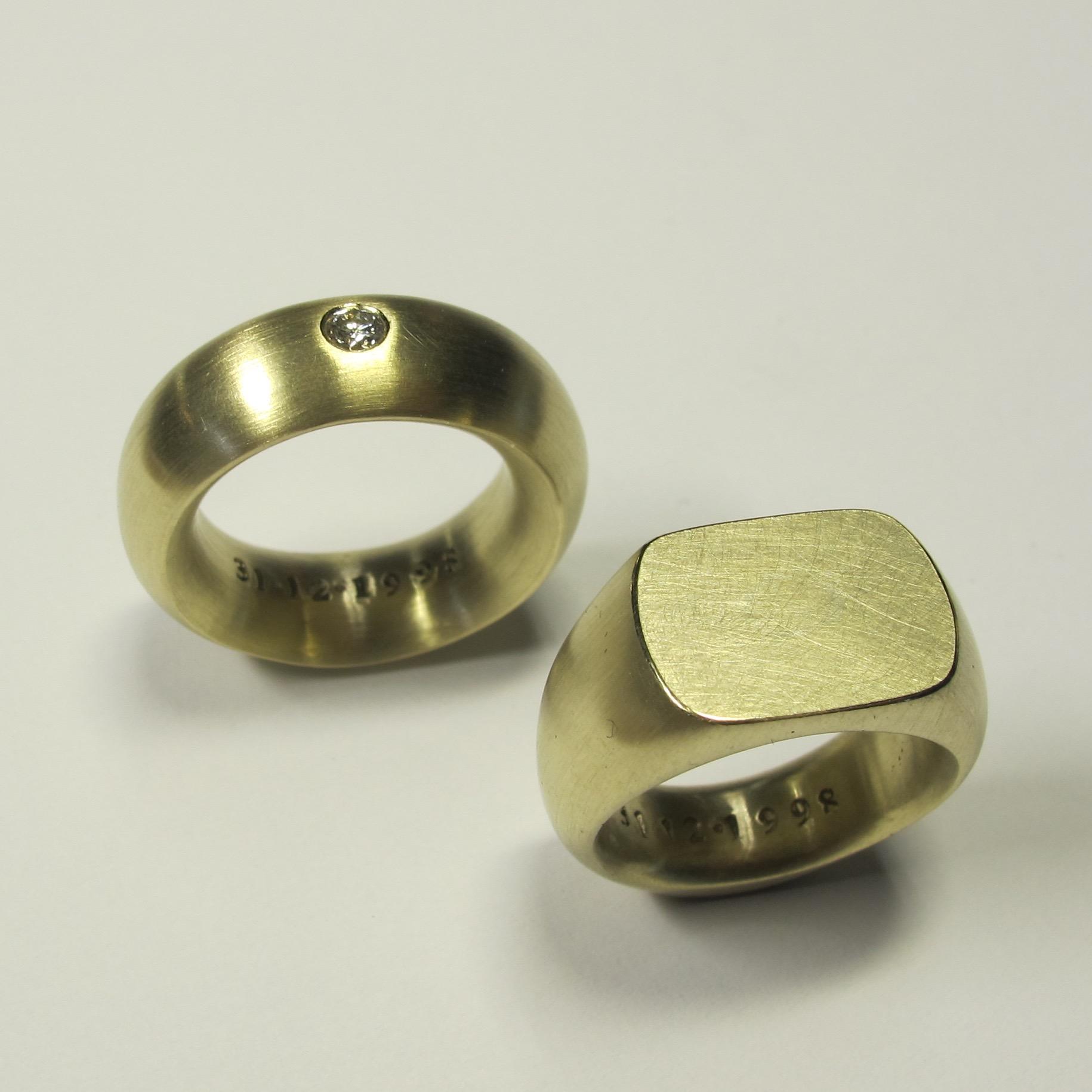 """""""Besiegelt"""" 750er Gold, Brillant"""