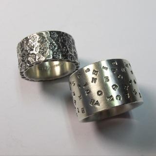 bestempelte Silberringe