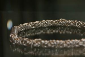 Halskette – 925er Silber, massiv und verlötet.